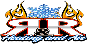 r and r heating and air logo