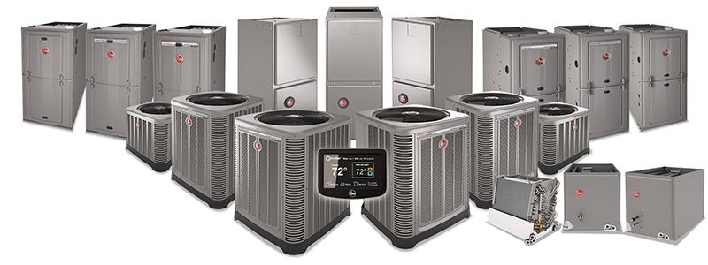 rheem ac and heat units